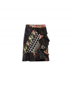 JACQUARD SKIRT WITH RUCHES