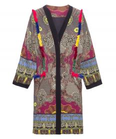 ORIENTAL DUSTER COAT WITH FRINGING