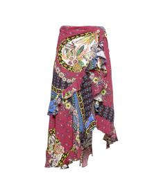 WRAP SKIRT WITH RUCHES