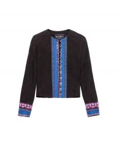 SUEDE JACKET WITH EMBROIDERY