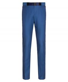 BLUE TROUSERS WITH PATCH DETAILS