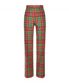 PAISLEY HIPSTER CHECK TROUSERS