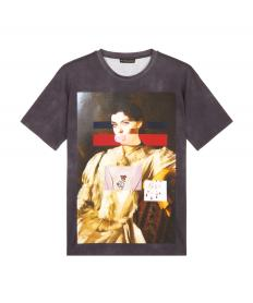 COTTON T-SHIRT WITH PAINTING PRINT