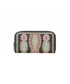 KNOT WALLET WITH MULTICOLOUR PRINT