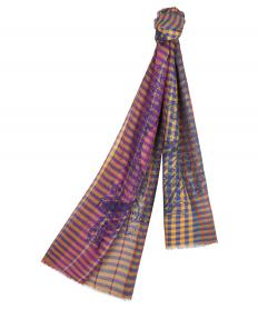 PAISLEY AND VICHY-PRINT SCARF