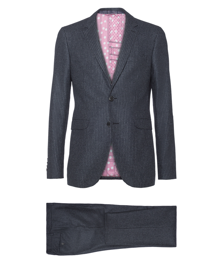 WOOL AND CASHMERE PINSTRIPE SUIT