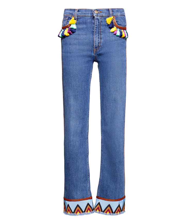 ENBROIDERED JEANS