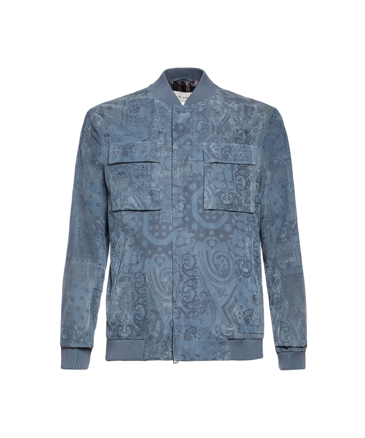PAISLEY SUEDE BOMBER JACKET