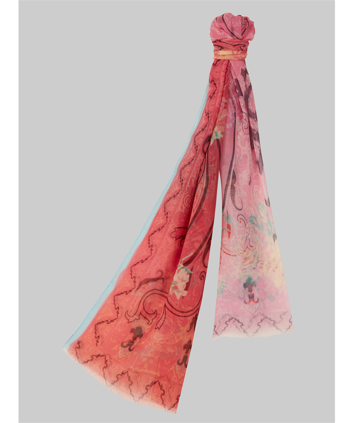 DEGRADE PAISLEY-PRINT SCARF